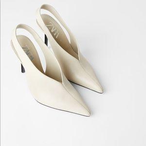 ZARA Slingback Leather Heels